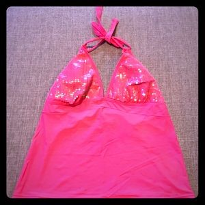 Other - Plus Size Hot Pink Tankini Swimsuit Top